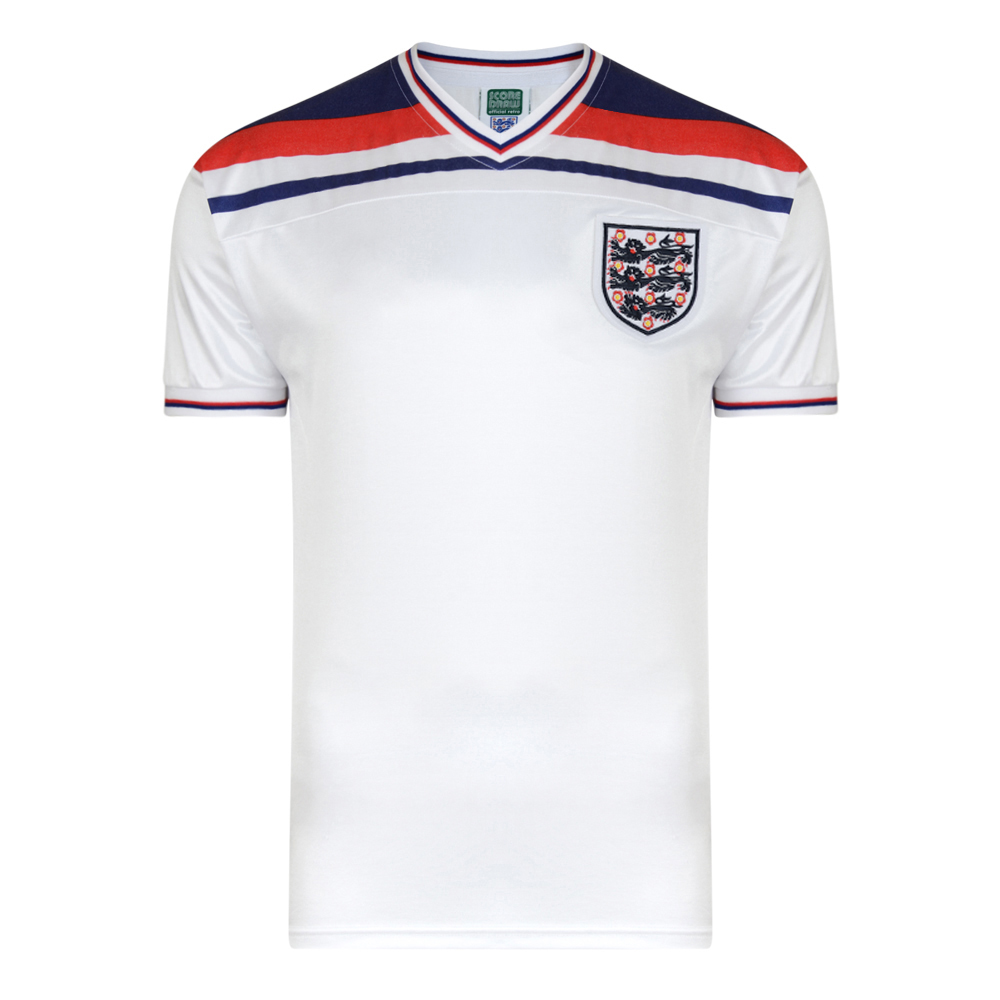 44f9ed1c0 England 1982 World Cup Finals Retro Shirt. Loading zoom