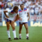 England 1982 Hoddle and Wilkins