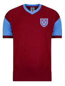 West Ham United 1958 No6 Retro Football Shirt ff982a717