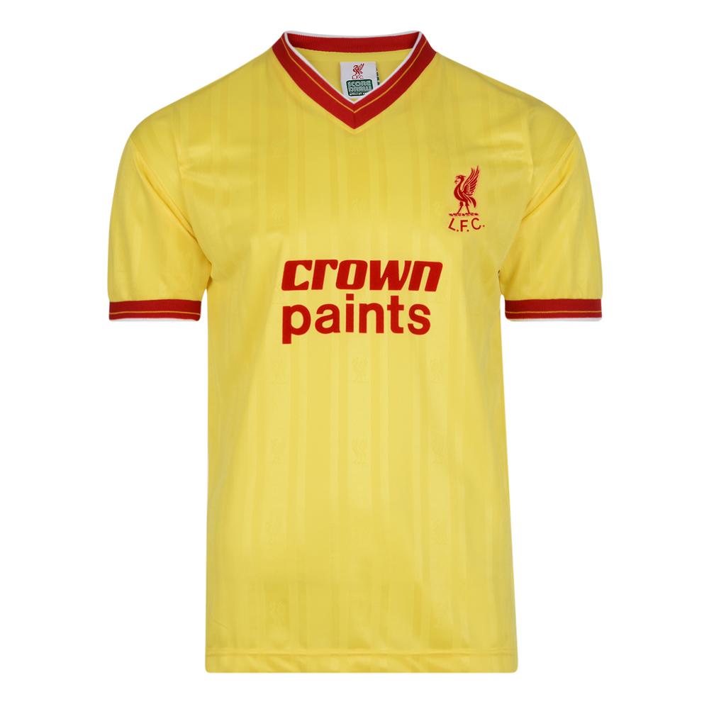 Liverpool FC 1986 Away Retro Football Shirt Loading Zoom