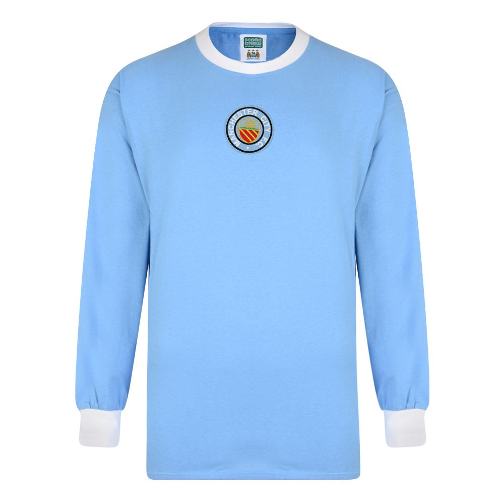 Manchester City 1970 Long Sleeve Retro Shirt. Loading zoom 72602e359e05