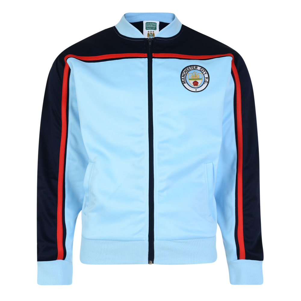 3683b816e Manchester City 1982 Retro Track Jacket. Loading zoom