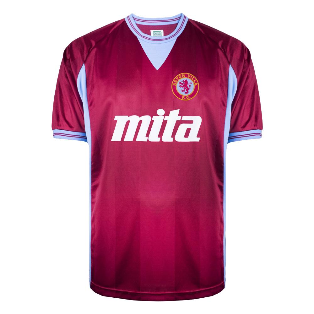Aston Villa 1984 Shirt Aston Villa Fc Retro Jersey Score Draw