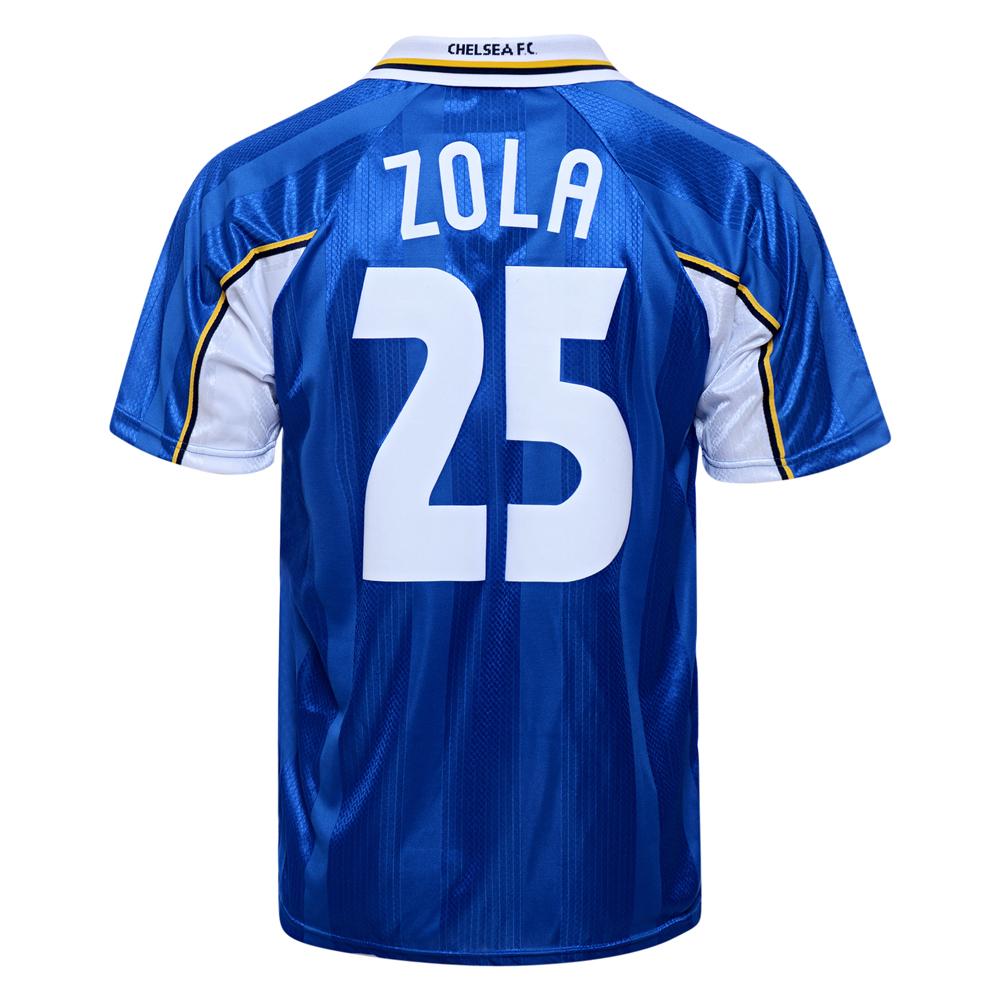 purchase cheap ec048 e8e9e Chelsea 1998 ECWC No25 Zola shirt | Chelsea Retro Jersey ...