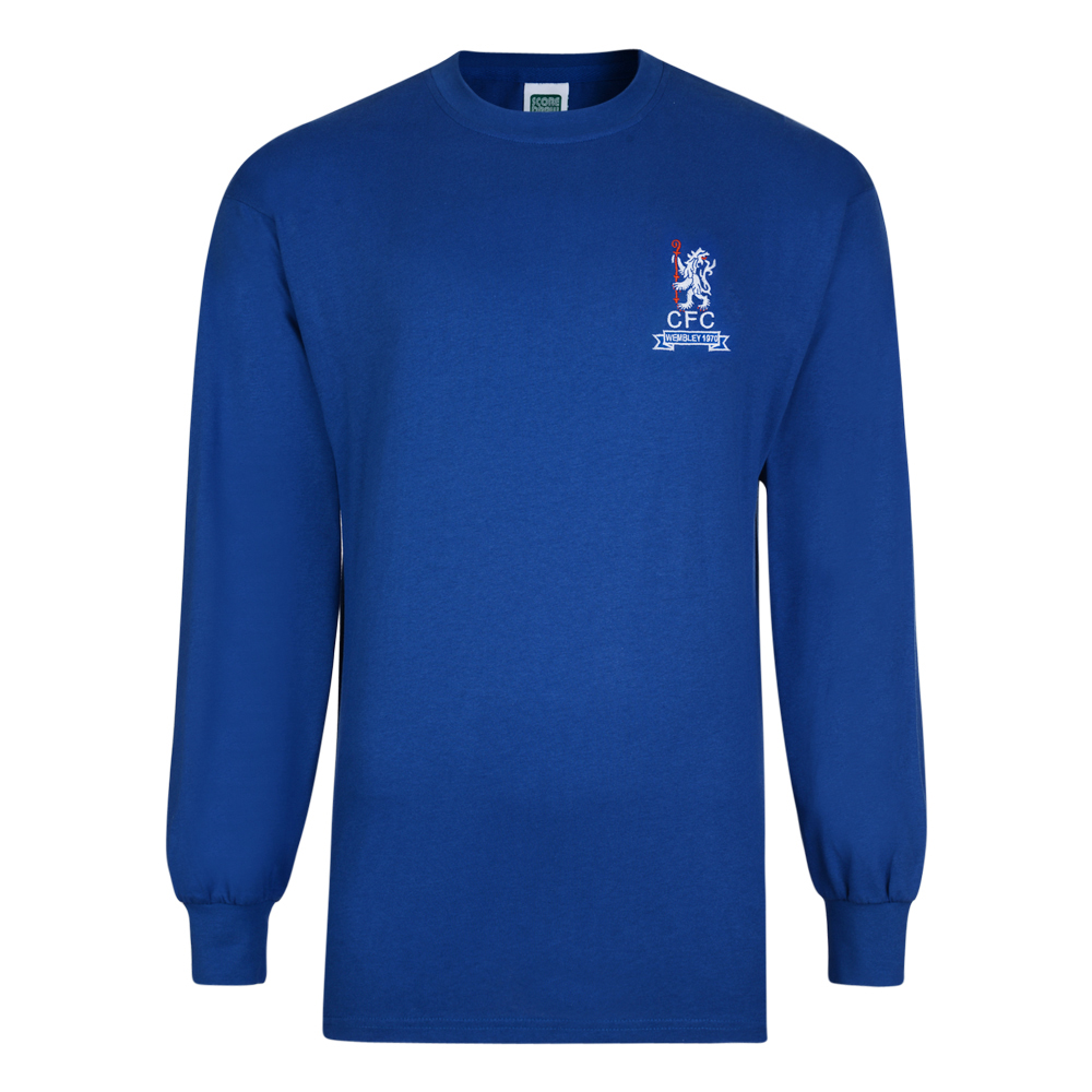 38a349a30 Chelsea 1970 Wembley Retro Football Shirt. Loading zoom