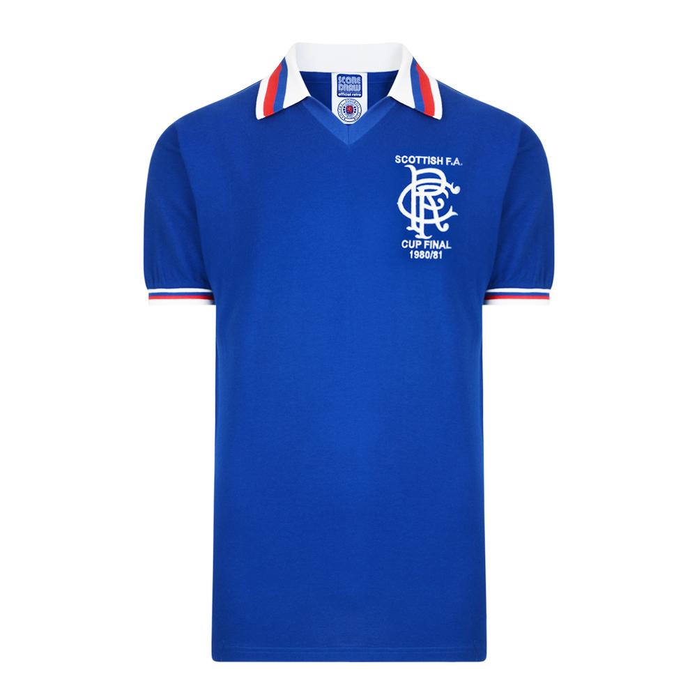 Rangers 1981 Scottish Cup Final Retro Shirt 1db5d119e