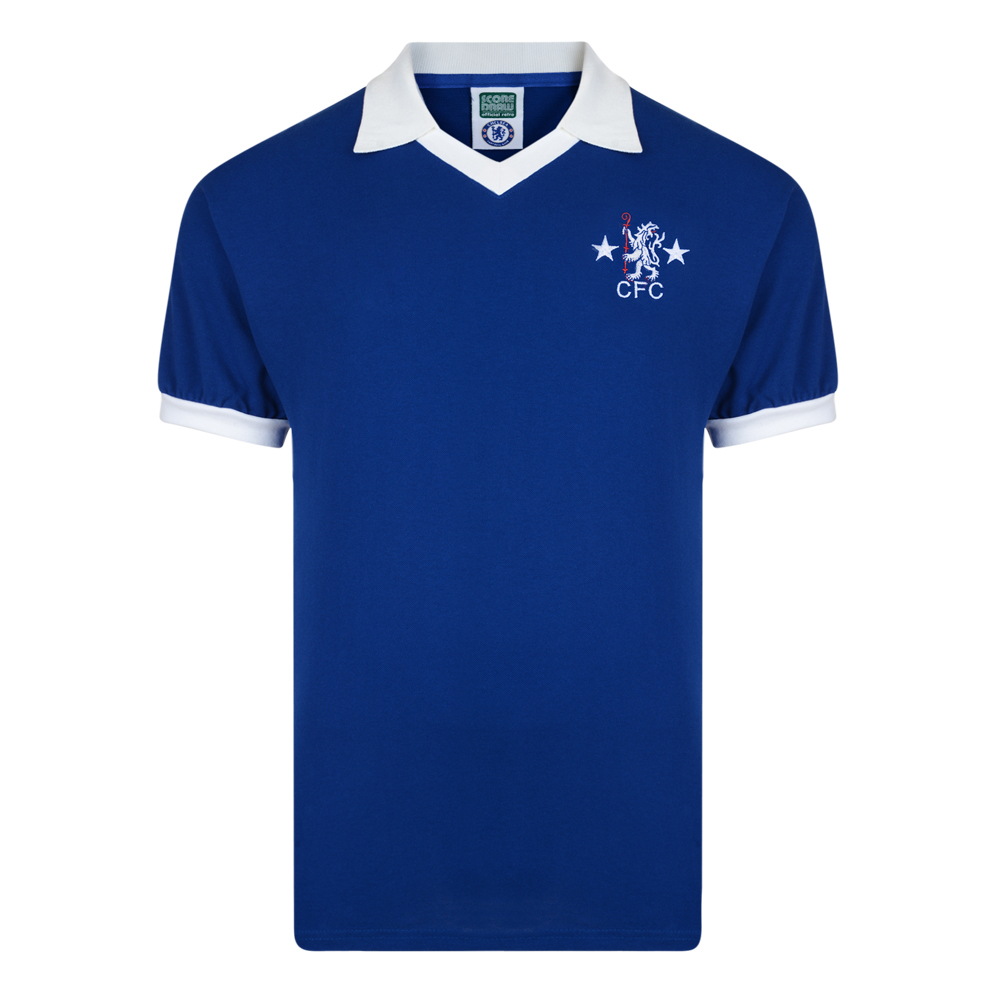 79e9f8622 Chelsea 1976 Retro Football Shirt. Loading zoom