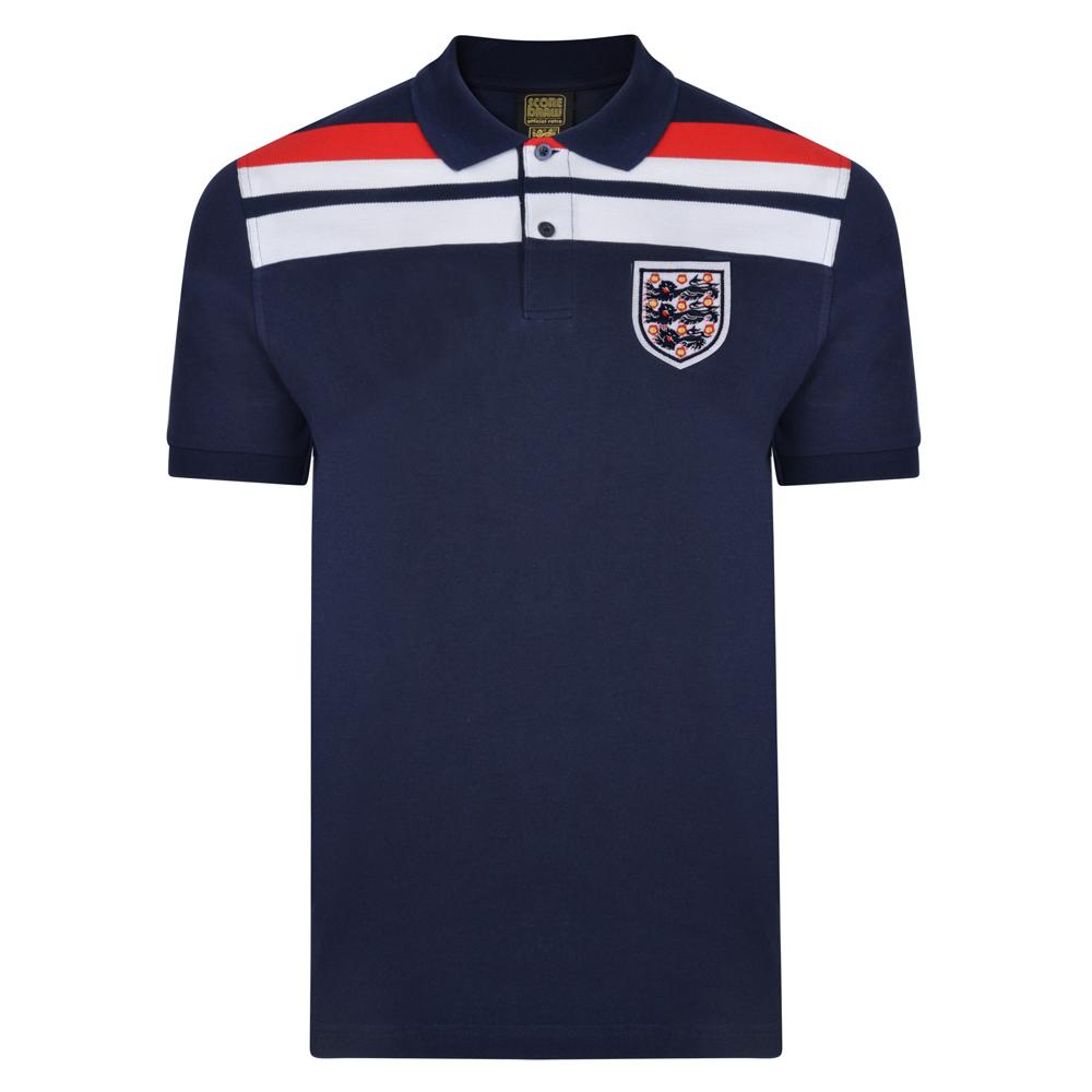 3e073fb8b England 1982 Empire Navy Polo shirt