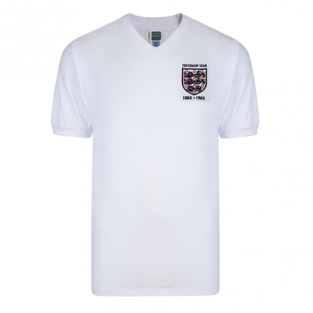 England 1963 Centenary Retro Football Shirt