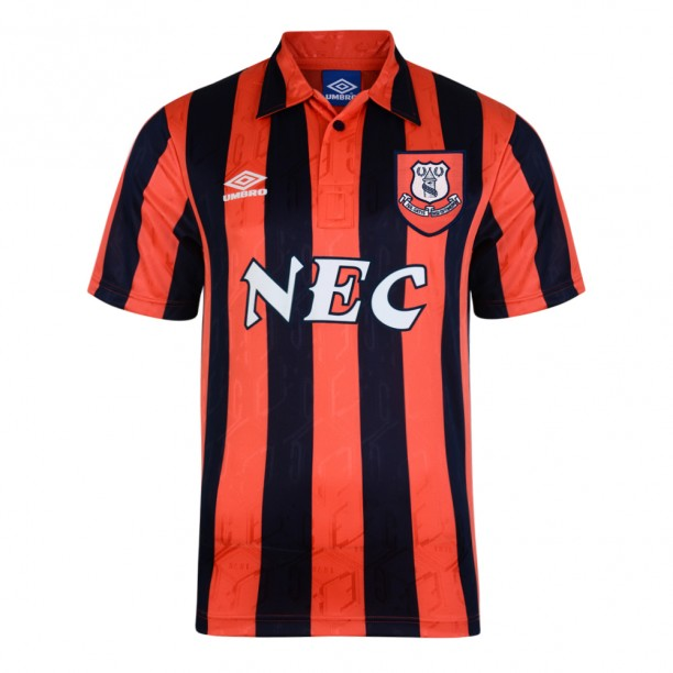 Everton 1992 Away Umbro Retro Football Shirt