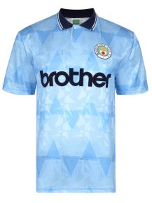 Manchester City 1989 Retro Football Shirt