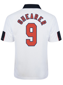 England 1998 World Cup Finals No9 Shearer Shirt
