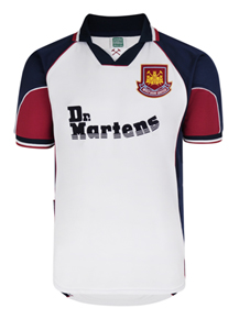 West Ham United 1999 Away Retro Football Shirt