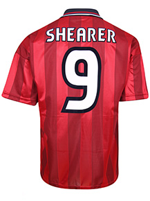 England 1998 Away World Cup Finals No9 Shearer