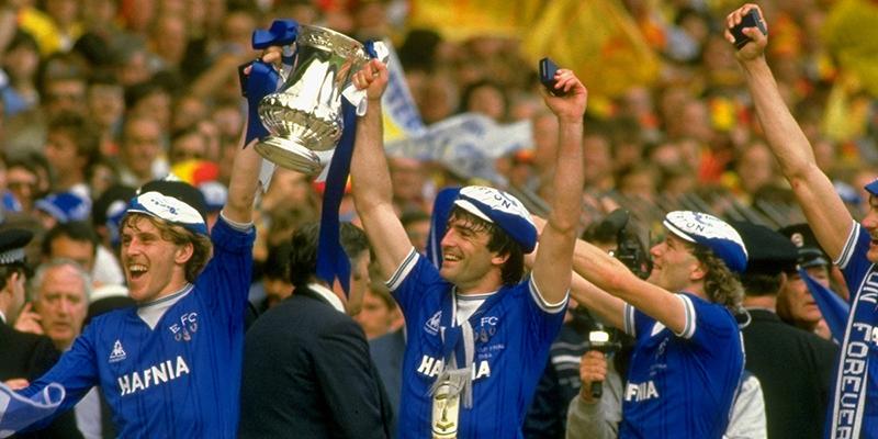 League Everton Fc Everton  Fa Cup Winners Retro Football Shirt