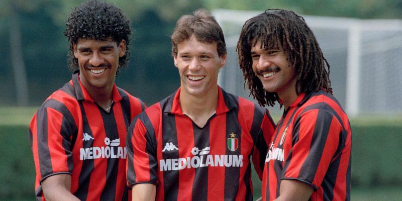AC Milan 1994 European Cup Final Retro Football Shirt Top Mens
